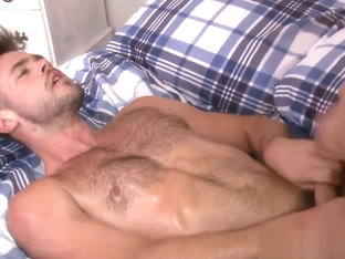 Handsome muscle hunks bedroom fucking