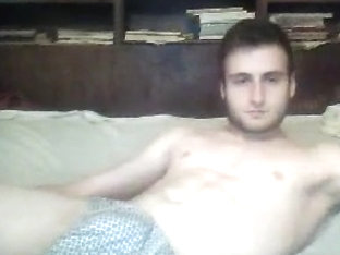 Romanian athletic boy cums on cam fucking hot big ass