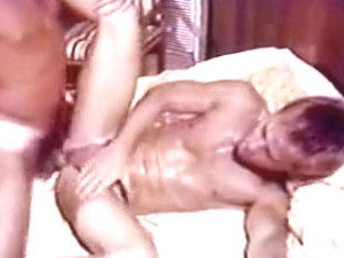 Crazy male in hottest bareback, vintage gay sex video