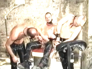 Exotic amateur gay video with Bondage, Leather scenes
