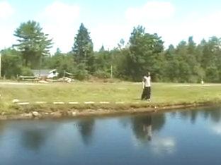 Horny twinks fucking at lake