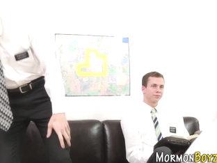 Uniform mormon banged raw