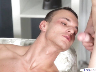 Analized stud jizzed on ass in mmf threesome