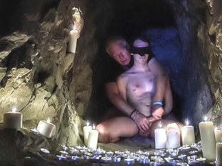 Bound & Wanked In The Cave! - Charley Cole - Boynapped