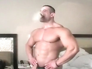 smoking muscle hunk