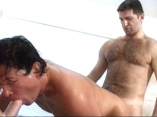 Hottest male pornstars Andre Savage, Sergio Real and Ryan Foxx in incredible dildos/toys, masturba.