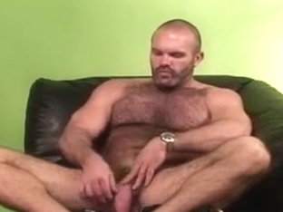 Super hairy bear solo masturbation