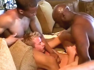 Blonde Fucked By Two Black Guys