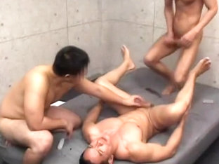 Crazy Asian homosexual dudes in Exotic blowjob, group sex JAV clip