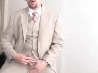 jerk in tan 3pc suit