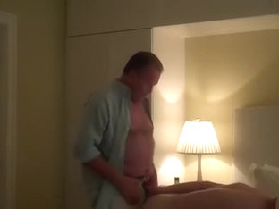 Lovely fag is jerking off in the apartment and shooting himself on camera