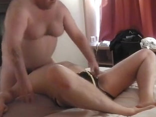 fat dad sucked and rimmed by chaser in rubber