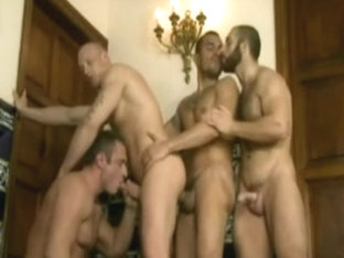 Horny gay bears in a hot group action