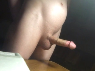 Masturbation in the room at night  homemade solo