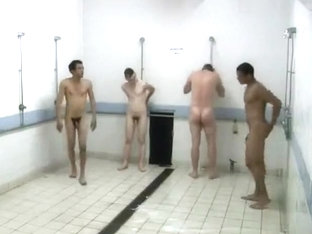 Spy Cam In College Boys Shower