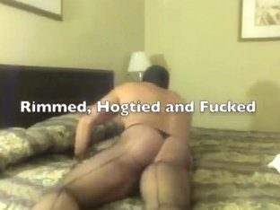 Muscleslave bound dildoed and fucked