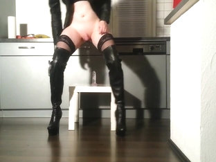 Slut is riding her toy again