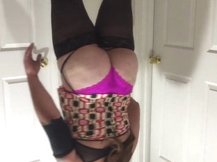 Big ass femdom sissy boy crossdresser fetish in stockings