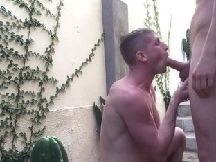 BigCMen Courtyard Fuck With Jack Hunter