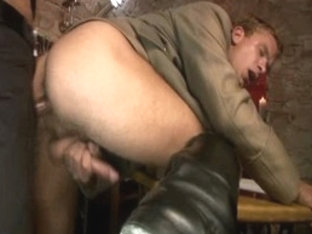 Exotic male pornstar in best uniform, masturbation homosexual sex clip
