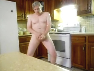 Daddy makes a snack in the kitchen