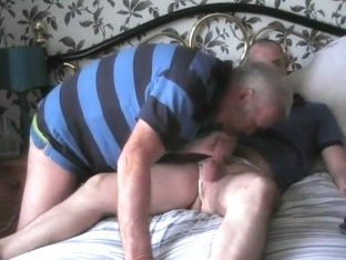 Two Bi Guys Jerk Each Other Off While Wearing Panties
