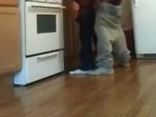Knocking down my straight homie in the kitchen