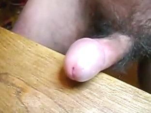 rubbing my little cock on a desk