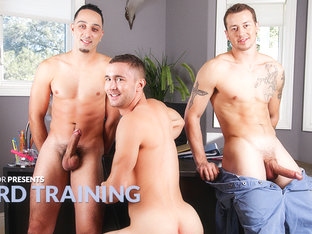 Mark Long & Andrew Fitch & Colt Rivers in Hard Training XXX Video