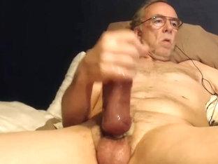 Big cock grandpa stroke on cam 2
