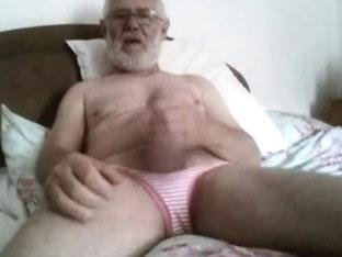 Grandpa cum on cam 6