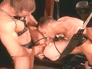 Homosexual Leather Trio