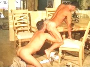 Incredible male pornstars Matt Fuller and Michael Vista in horny swallow, rimming homo sex scene