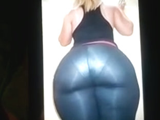 Hot Cum Tribute for her Big Fat CurvyJuicy SexyHot Blond Ass