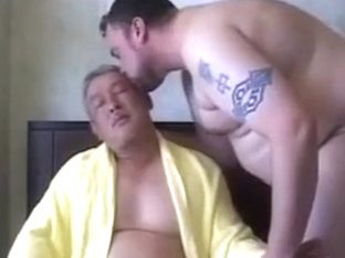Nasty Japanese mandy and European bear enjoy each other