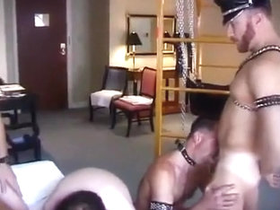 Gay orgy with kinky flavor