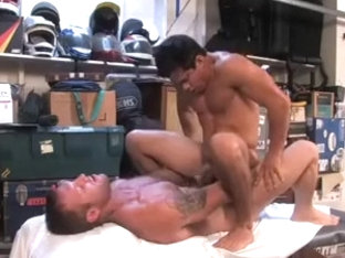 Hot stud gets his tight asshole drilled