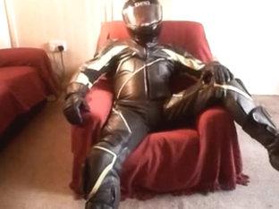 Leathers, helmet and cigs
