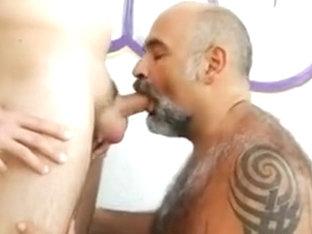Boy fucking a hairy chubby bear