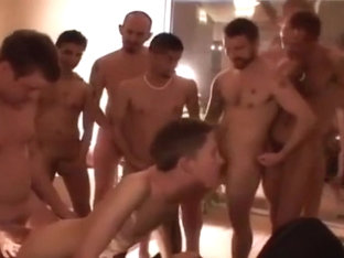 His hot bareback gangbang