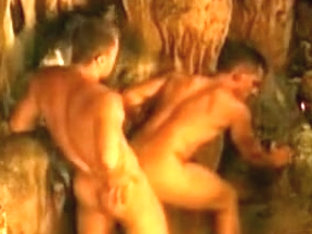 2 guys in cave
