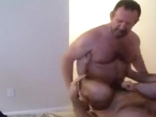 Dad Ken Bonks a Bushy Bottom Daddy.