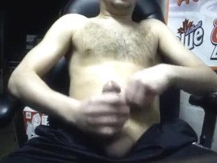 Watching porn: Huge Cum shot!