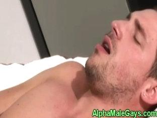Gay stud gets fucked by a big black cock