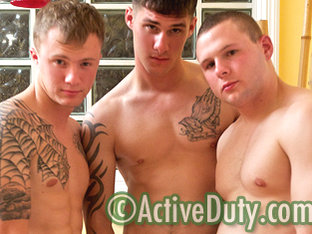 Carson, Dustin & Zander Military Porn Video