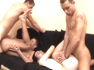 Four Horny Studs Rim, Suck And Fuck