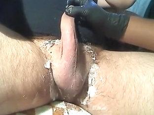 Uncut Cock Shave