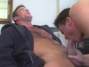 Incredible male pornstars Drew Larson and Ken Ryker in fabulous blowjob, bears homosexual adult vi.