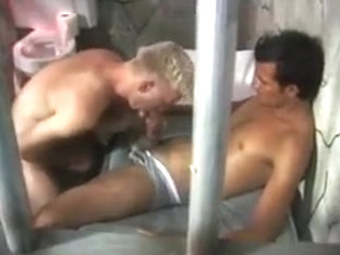 Gay ass fucked in prison