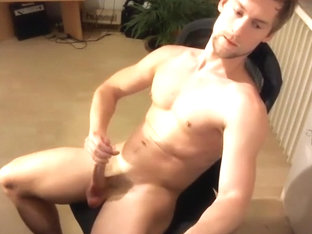 Muscular Hunk Doing Stress Position Workout 1